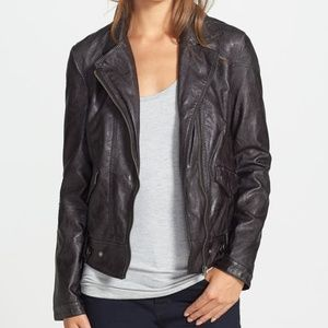 NWT Dean Distressed Faux Leather Jacket
